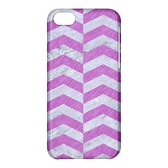 Chevron2 White Marble & Purple Colored Pencil Apple Iphone 5c Hardshell Case
