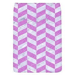 Chevron1 White Marble & Purple Colored Pencil Flap Covers (s)
