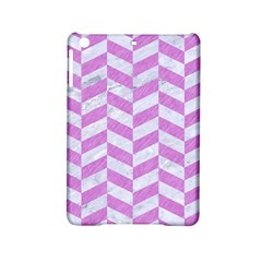 Chevron1 White Marble & Purple Colored Pencil Ipad Mini 2 Hardshell Cases