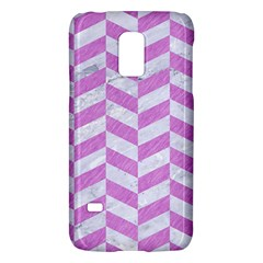 Chevron1 White Marble & Purple Colored Pencil Galaxy S5 Mini