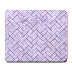 Brick2 White Marble & Purple Colored Pencil (r) Large Mousepads