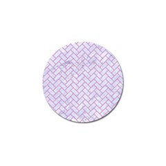 Brick2 White Marble & Purple Colored Pencil (r) Golf Ball Marker (10 Pack) by trendistuff