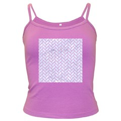 Brick2 White Marble & Purple Colored Pencil (r) Dark Spaghetti Tank