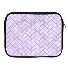 Brick2 White Marble & Purple Colored Pencil (r) Apple Ipad 2/3/4 Zipper Cases