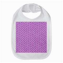 Brick2 White Marble & Purple Colored Pencil Bib