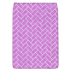 Brick2 White Marble & Purple Colored Pencil Flap Covers (l)