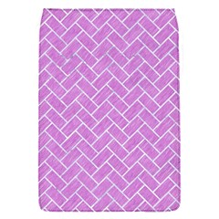Brick2 White Marble & Purple Colored Pencil Flap Covers (s)