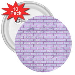 Brick1 White Marble & Purple Colored Pencil (r) 3  Buttons (10 Pack)
