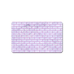 Brick1 White Marble & Purple Colored Pencil (r) Magnet (name Card)