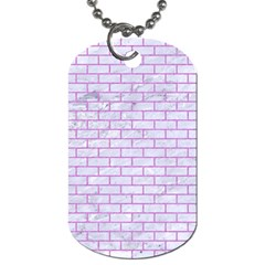 Brick1 White Marble & Purple Colored Pencil (r) Dog Tag (two Sides)