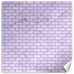 Brick1 White Marble & Purple Colored Pencil (r) Canvas 12  X 12