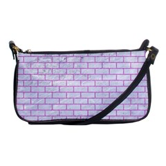 Brick1 White Marble & Purple Colored Pencil (r) Shoulder Clutch Bags by trendistuff