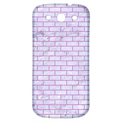 Brick1 White Marble & Purple Colored Pencil (r) Samsung Galaxy S3 S Iii Classic Hardshell Back Case