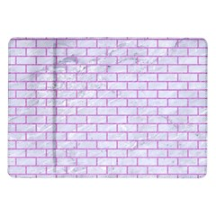 Brick1 White Marble & Purple Colored Pencil (r) Samsung Galaxy Tab 10 1  P7500 Flip Case