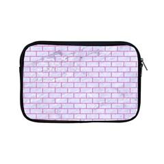 Brick1 White Marble & Purple Colored Pencil (r) Apple Ipad Mini Zipper Cases by trendistuff