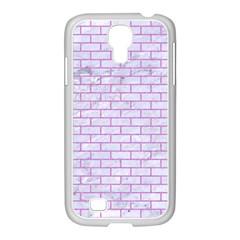Brick1 White Marble & Purple Colored Pencil (r) Samsung Galaxy S4 I9500/ I9505 Case (white)