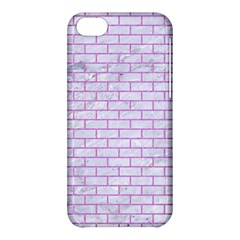Brick1 White Marble & Purple Colored Pencil (r) Apple Iphone 5c Hardshell Case