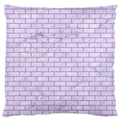 Brick1 White Marble & Purple Colored Pencil (r) Large Flano Cushion Case (two Sides)
