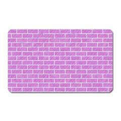 Brick1 White Marble & Purple Colored Pencil Magnet (rectangular) by trendistuff
