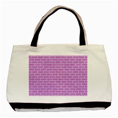 Brick1 White Marble & Purple Colored Pencil Basic Tote Bag (two Sides) by trendistuff