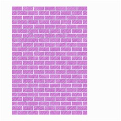 Brick1 White Marble & Purple Colored Pencil Small Garden Flag (two Sides)