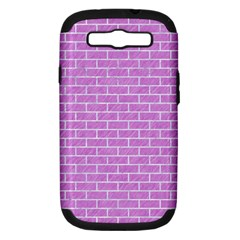 Brick1 White Marble & Purple Colored Pencil Samsung Galaxy S Iii Hardshell Case (pc+silicone)