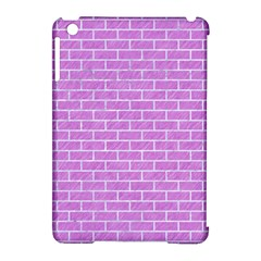 Brick1 White Marble & Purple Colored Pencil Apple Ipad Mini Hardshell Case (compatible With Smart Cover) by trendistuff