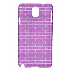 Brick1 White Marble & Purple Colored Pencil Samsung Galaxy Note 3 N9005 Hardshell Case