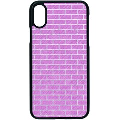 Brick1 White Marble & Purple Colored Pencil Apple Iphone X Seamless Case (black)