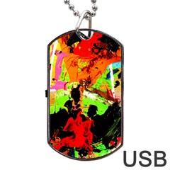 Enterprenuerial 1 Dog Tag Usb Flash (two Sides)