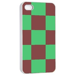 Background Checkers Squares Tile Apple Iphone 4/4s Seamless Case (white)