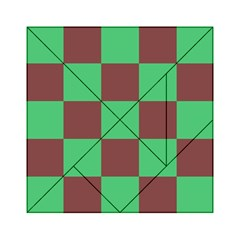 Background Checkers Squares Tile Acrylic Tangram Puzzle (6  X 6 )