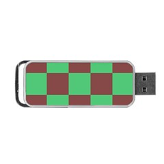Background Checkers Squares Tile Portable Usb Flash (one Side)