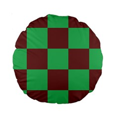 Background Checkers Squares Tile Standard 15  Premium Round Cushions