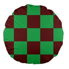 Background Checkers Squares Tile Large 18  Premium Round Cushions by Sapixe