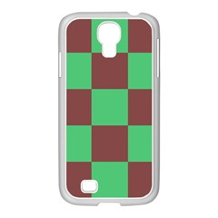 Background Checkers Squares Tile Samsung Galaxy S4 I9500/ I9505 Case (white)