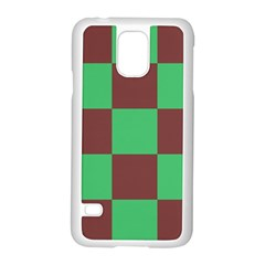 Background Checkers Squares Tile Samsung Galaxy S5 Case (white)