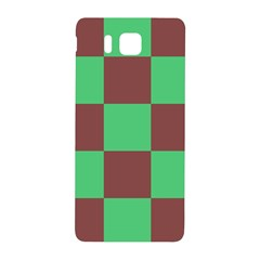 Background Checkers Squares Tile Samsung Galaxy Alpha Hardshell Back Case by Sapixe