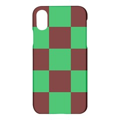 Background Checkers Squares Tile Apple Iphone X Hardshell Case