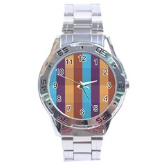 Background Desktop Squares Stainless Steel Analogue Watch by Sapixe