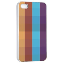 Background Desktop Squares Apple Iphone 4/4s Seamless Case (white)