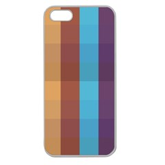 Background Desktop Squares Apple Seamless Iphone 5 Case (clear)