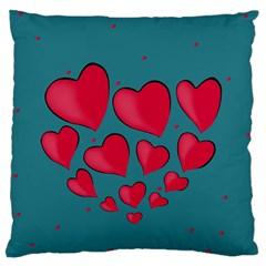 Background Desktop Hearts Heart Standard Flano Cushion Case (one Side)