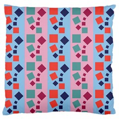 Background Desktop Squares Large Flano Cushion Case (two Sides)