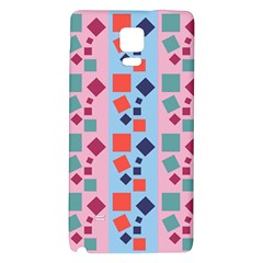 Background Desktop Squares Galaxy Note 4 Back Case by Sapixe