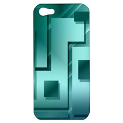 Green Figures Rectangles Squares Mirror Apple Iphone 5 Hardshell Case
