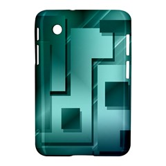 Green Figures Rectangles Squares Mirror Samsung Galaxy Tab 2 (7 ) P3100 Hardshell Case