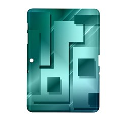 Green Figures Rectangles Squares Mirror Samsung Galaxy Tab 2 (10 1 ) P5100 Hardshell Case