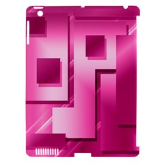 Pink Figures Rectangles Squares Mirror Apple Ipad 3/4 Hardshell Case (compatible With Smart Cover)