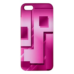 Pink Figures Rectangles Squares Mirror Apple Iphone 5 Premium Hardshell Case
